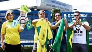 Eleitores pró-Bolsonaro em Curitiba (PR) 06/04/18