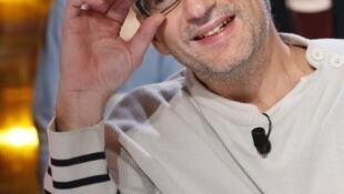 Le réalisateur français Michel Leclerc sur le plateau de l'émission «Au Field de la nuit», le 6 décembre 2012.