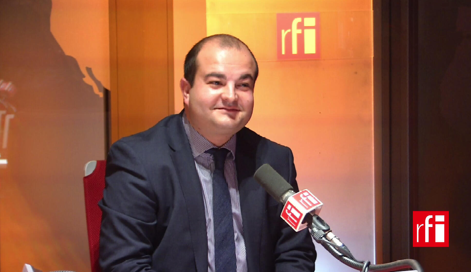 O prefeito de Fréjus, David Rachline, diretor de campanha de Marine Le Pen.