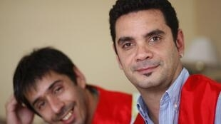 Jose Maria Di Bello (d) et Alex Freyre (g), à Buenos Aires, le 13 novembre 2009.