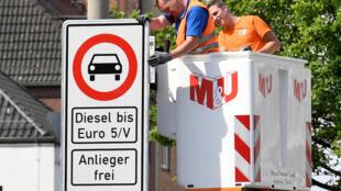 La primera prohibición de circulación de vehículos diesel en Alemania entrará en vigor el 31de mayo en el centro de Hamburgo