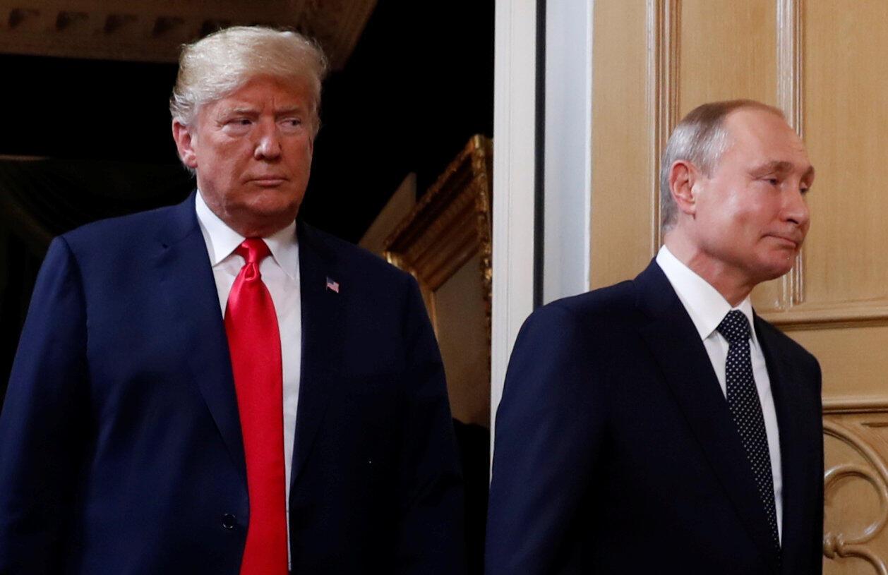 Tổng thống Mỹ Donald Trump và tổng thống Nga Vladimir Putin ngày 16/06/2018 tại Helsinki, Phần Lan.