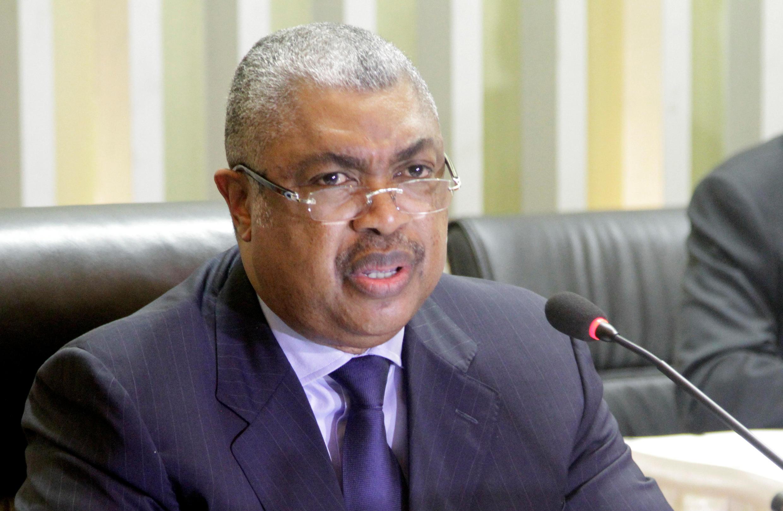 Le nouveau Premier ministre congolais Samy Badibanga, lors d'une conférence de presse à Kinshasa, le 20 décembre 2016.