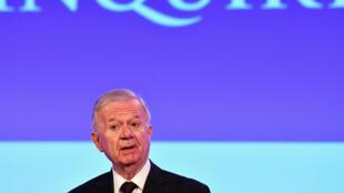 John Chilcot, presidente da comissão de inquérito à intervenção do Reino-Unido no Iraque. 6/07/16