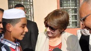 Nouria Benghabrit-Remaoun en septembre 2014 à Ghardaia pour le lancement de l'année scolaire 2014-2015.