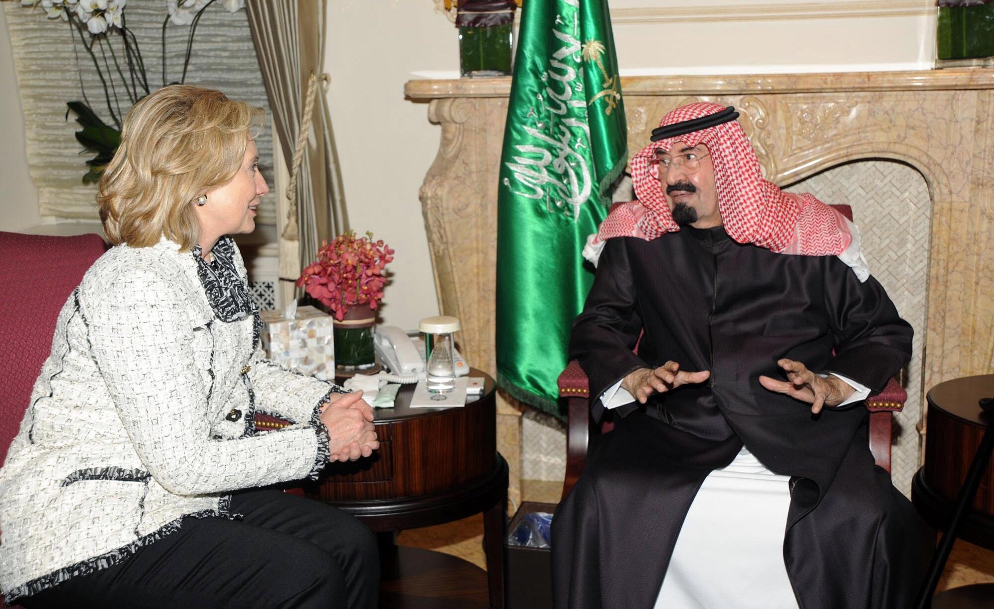 Sarki Abdallah na Saudiyya da Sakatariyar wajen Amurka Hillary Clinton