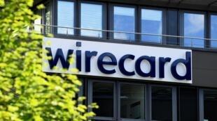 Le logo de l'entreprise Wirecard, photographié au siège d'Aschheim, près de Munich, le 1er juillet 2020.