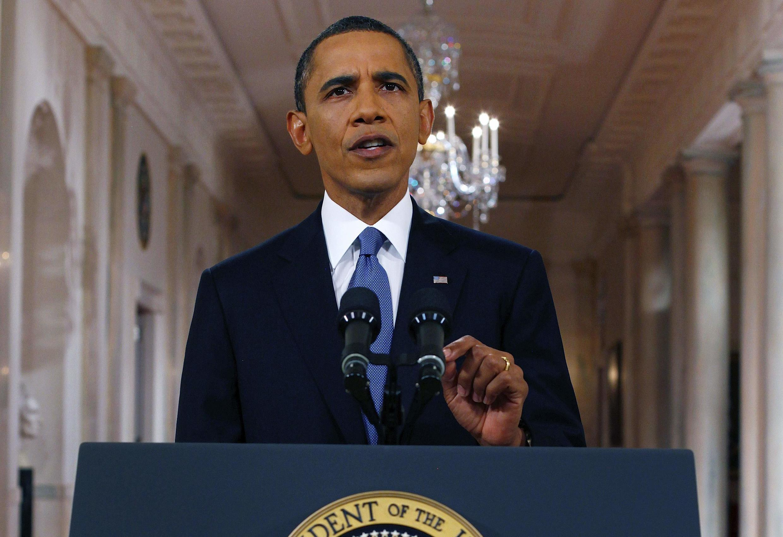 O presidente americano, Barack Obama, anunciou em pronunciamento que vai acelerar a retirada de soldados.