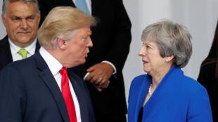 Na véspera de chegar ao Reino Unido, o presidente americano, Donald Trump, esteve com a primeira-ministra britânica, Theresa May, na cúpula da OTAN em Bruxelas.