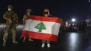 Protesto anti governo Líbano