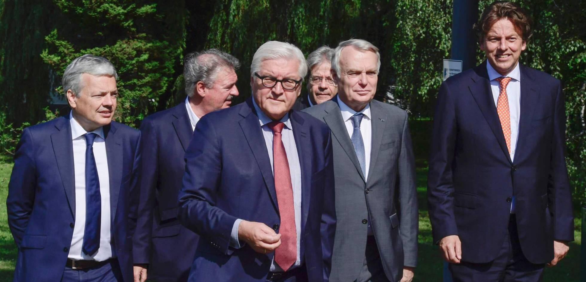 Министры иностранных дел шести стран-основательниц ЕС на встрече в Берлине