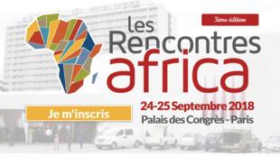 La page d'accueil «Des rencontres Africa 2018»