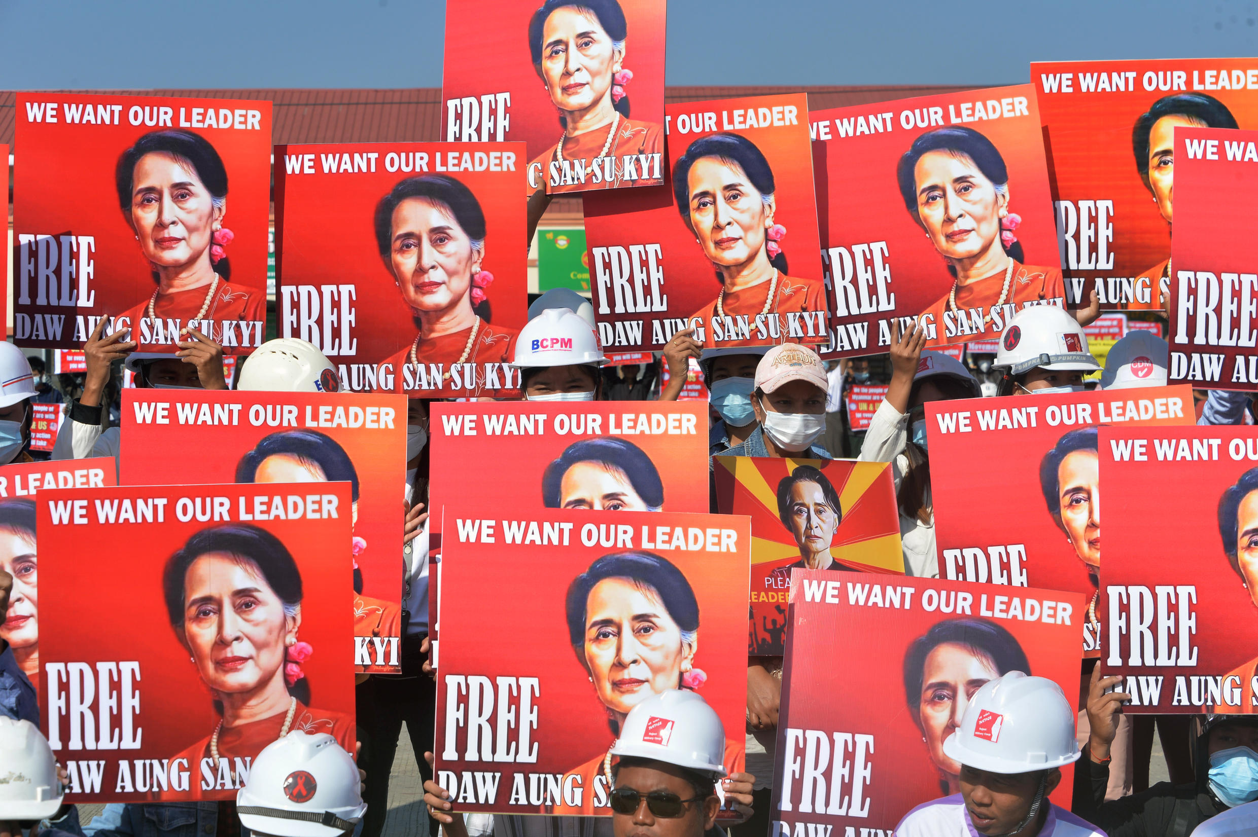 Aung San Suu Kyi has been detained since the day of the coup