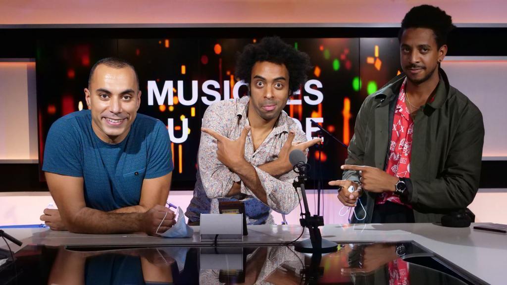 Damian Nueva, Carlos Mejias et Amar Chaoui à RFI.