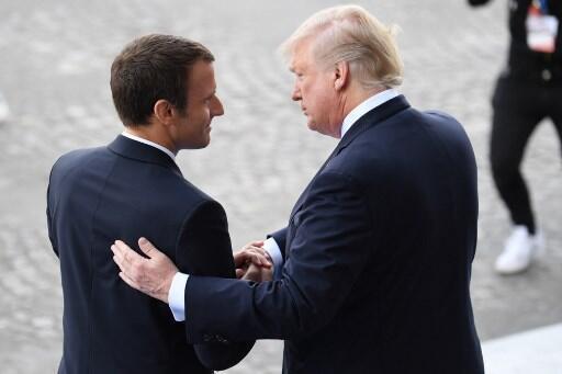 Shugaba Emmanuel Macron da takwaransa na Amurka Donald Trump.