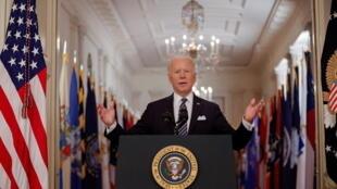 Le président américain Joe Biden a vanté jeudi soir les progrès spectaculaires dans la vaccination anti-Covid qui permettent d'espérer l'amorce d'un retour à la normale aux Etats-Unis d'ici la fête nationale du 4 juillet.