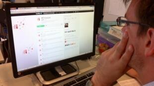 La page Twitter de RFI.