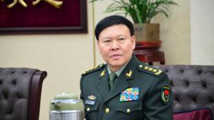 Zhang Yang, directeur du département politique général de l'Armée populaire de Libération (APL), lors d'une réunion à Pékin, en Chine, le 13 janvier 2014.