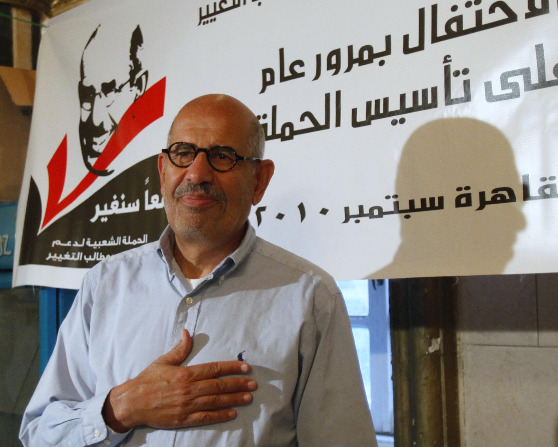 Mohamed El Baradei, chegou a ser apontado como favorito para as presidenciais no Egito.