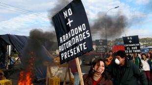 Manifestación en Chiloé este 10 de mayo de 2010.