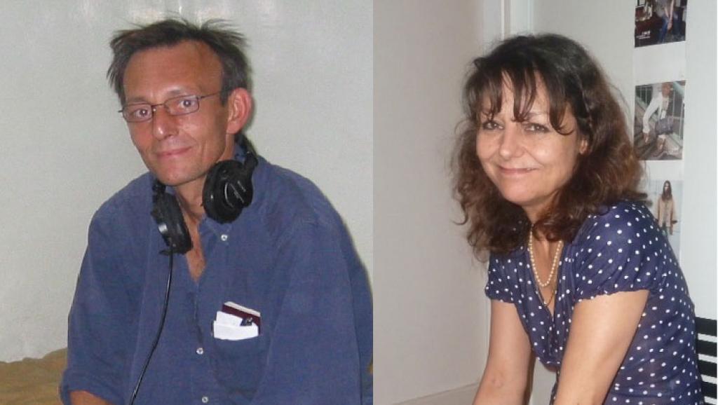 "Claude Verlon و Ghislaine Dupont  دو خبرنگار ""رادیو بینالمللی فرانسه"" که در سال ٢٠١٣ در شمال ""مالی"" به قتل رسیدند."