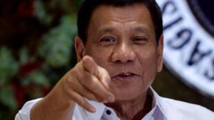 Tổng thống Philippines Rodrigo Duterte. Ảnh 19/12/2016.