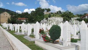 Cimetière du quartier de Kovaci, Bosnie-Herzégovine.