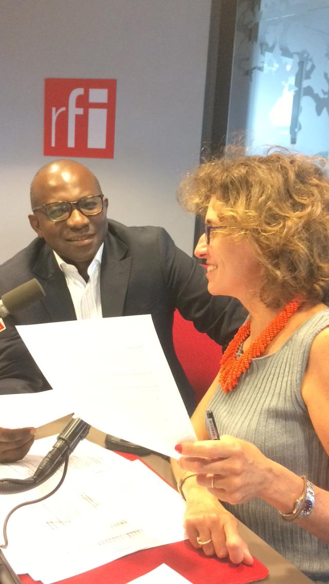 Emmanuelle Bastide et Didier Acouetey.