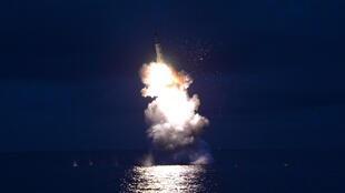 A test-fire of strategic submarine-launched ballistic missile is seen in this undated photo released by North Korea's Korean Central News Agency (KCNA) in Pyongyang August 25, 2016.