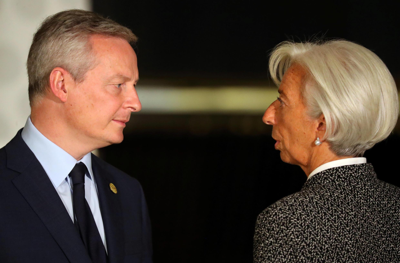 گفتگوی وزیر اقتصاد فرانسه با رییس صندوق بینالمللی پول در نشست گروه بیست در بوئنوس آیرس آرژانتین
