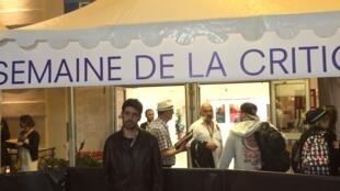 """O realizador português Pedro Peralta na """"Semaine de la critique"""" do Festival de cinema de Cannes a 14 de Maio de 2016"""
