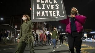 Manifestation du mouvement Black Lives Matter à Philadelphie, le 27 octobre 2020.
