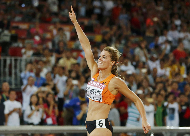Dafne Schippers of the Netherlands after winning the women's 200m final