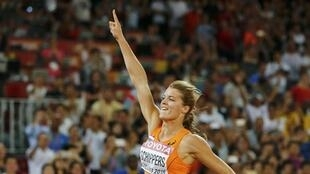 Dafne Schippers of the Netherlands after winning the women's 200m final