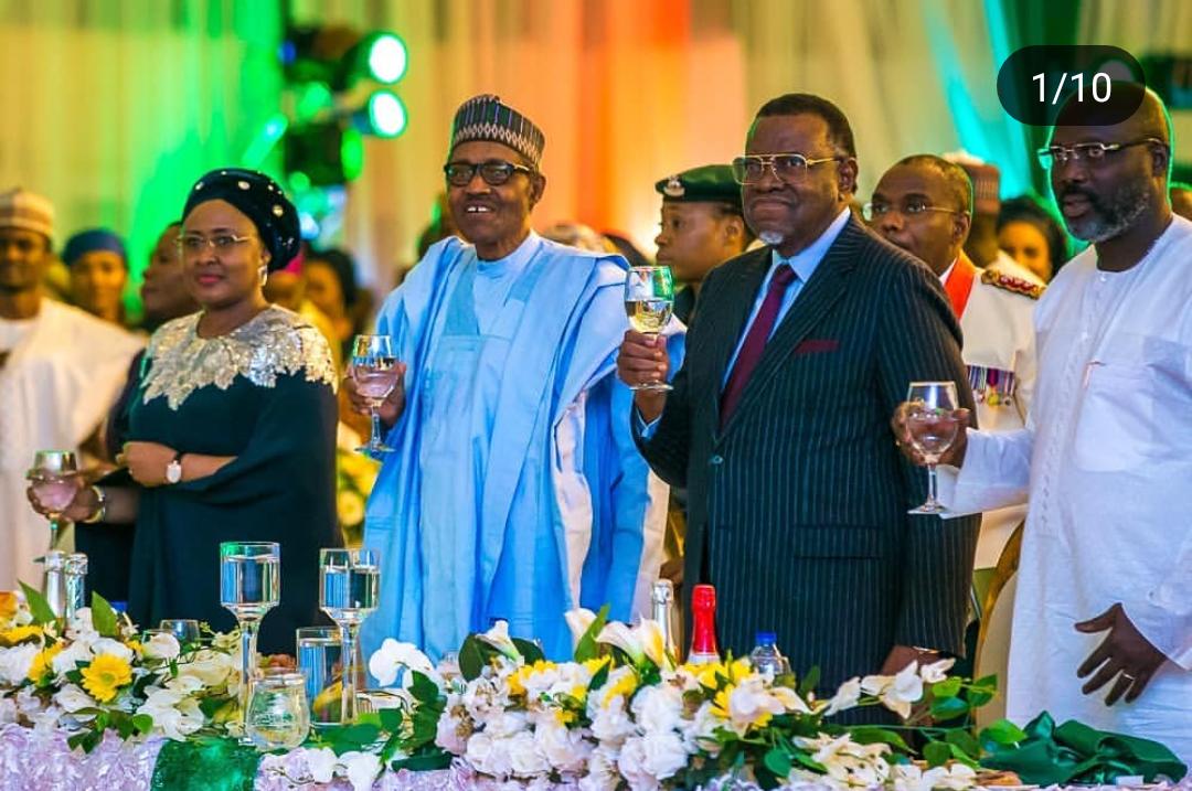 President Muhammadu Buhari hosts world leaders at  democracy Day eve banquet, Aso Rock Presidential Villa, June 11, 2019