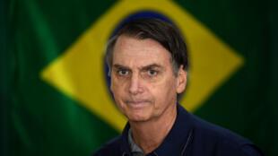 Le candidat Jair Bolsonaro, probable prochain président du Brésil, le 7 octobre 2018 à Rio de Janeiro.