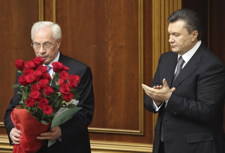 PM Ukraine Mikola Azarov da Shugaban kasar Viktor Ianoukovitch