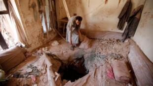 Bombardement de la coalition dans la vieille ville de Sanaa, le 24 septembre 2016.