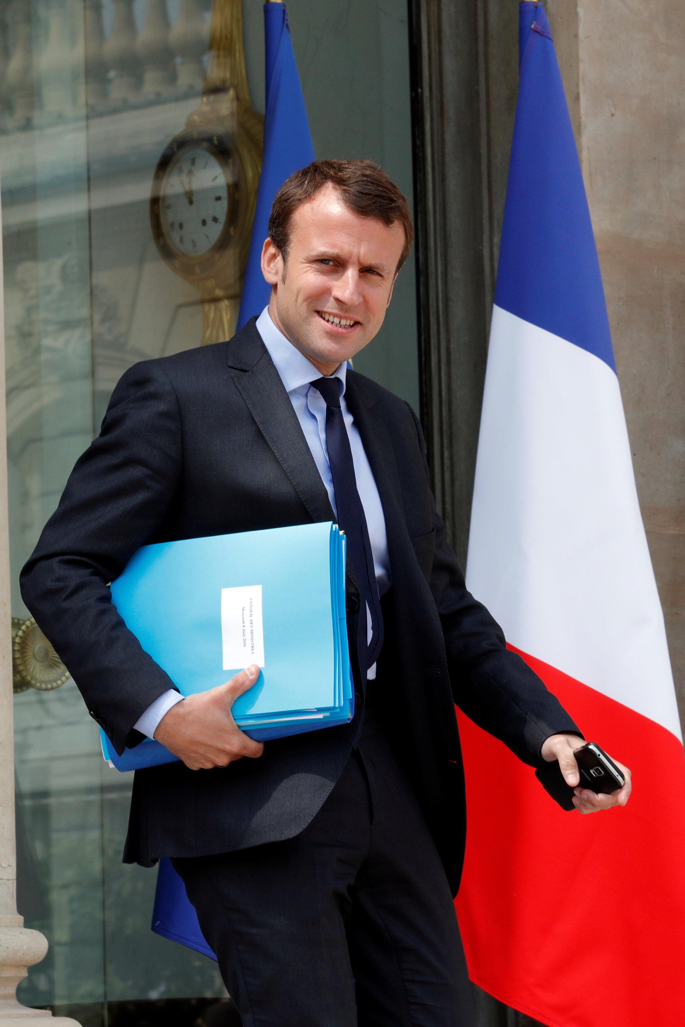 Le ministre français Emmanuel Macron, le 8 juin 2016.