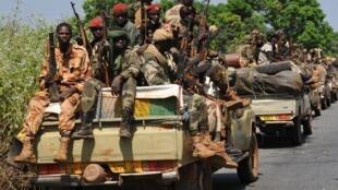 Soldats tchadiens à Damara, en République centrafricaine, le 2 janvier 2013.