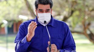 El presidente de Venezuela, Nicolás Maduro, el 21 de marzo de 2021 en el Palacio de Miraflores, en Caracas