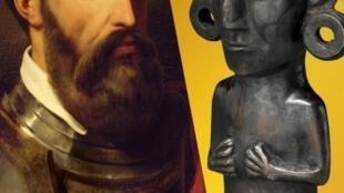 """""""El inca y el conquistador"""" se presenta hasta el 20 de septiembre en el Quai Branly de París."""