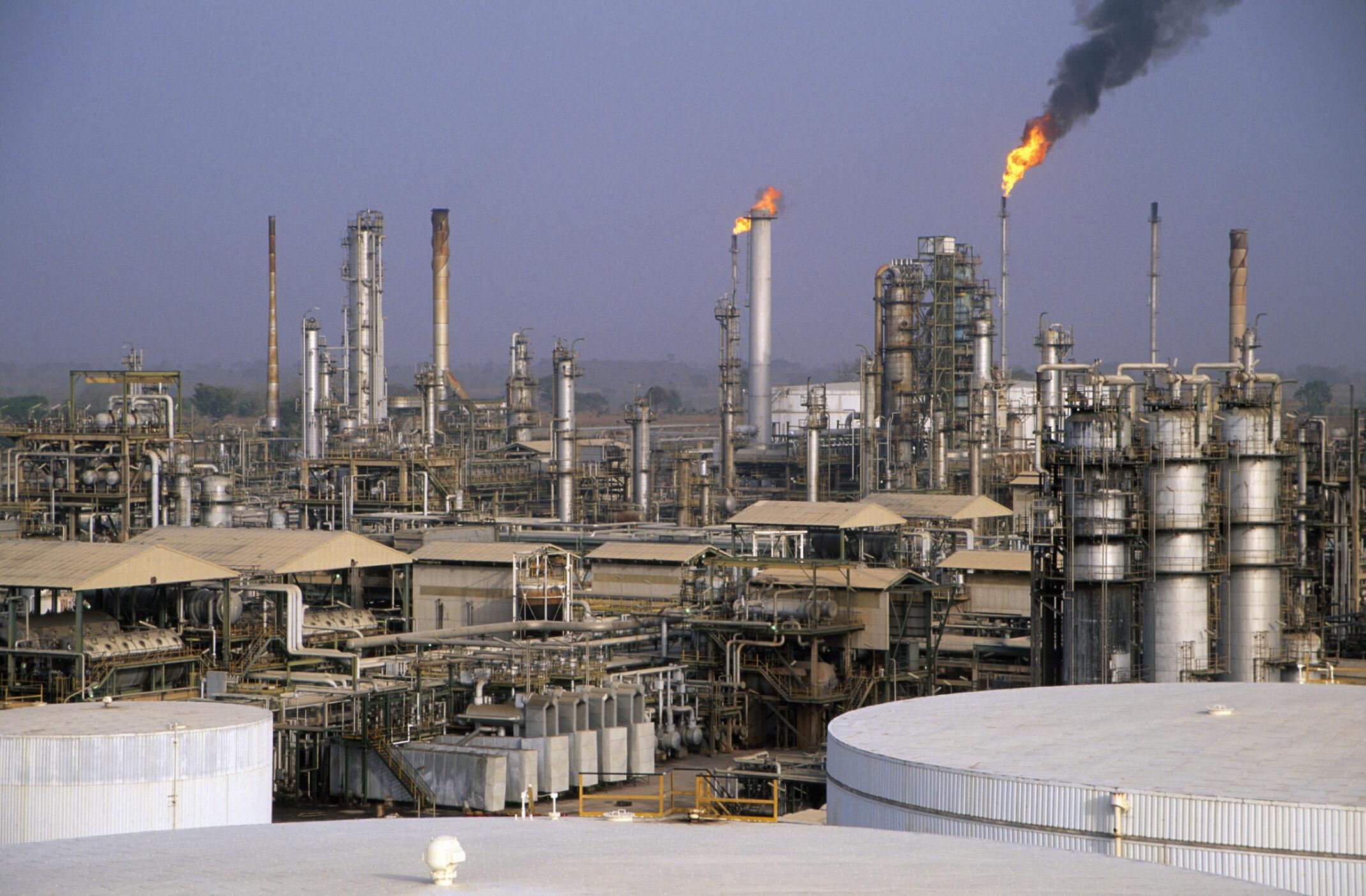La raffinerie de pétrole de Kaduna, au Nigeria.
