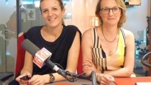"""Albertine de Galbert y Paula Aisemberg, curadoras de la exposición """"My Buenos Aires"""", en los estudios de RFI"""