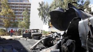 Bomba estalla cerca del hotel donde se hospedan los Obervadores de la ONU en Damasco