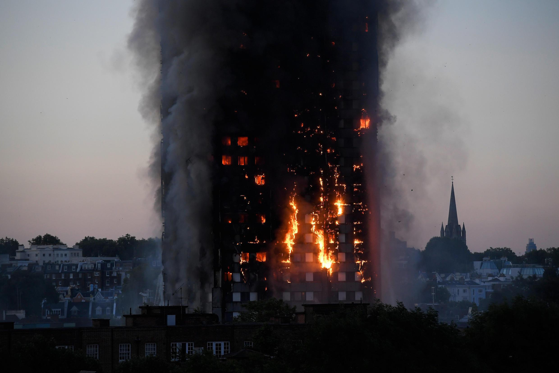 Incêndio em Londres.