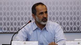 Mouaz al-Khatib, durante reunião da Coalizão síria, em Istambul, no dia 18 de março de 2013.