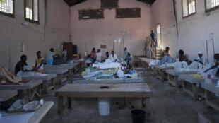 Le centre de traitement du choléra dans le quartier Carrefour à Port-au-Prince, le 10 décembre 2014.