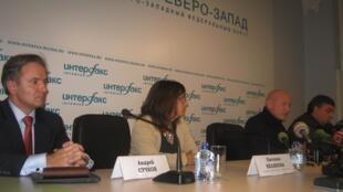 Greenpeace tổ chức họp báo về vụ Arctic Sunrise - RFI / Vladimir Bondarev