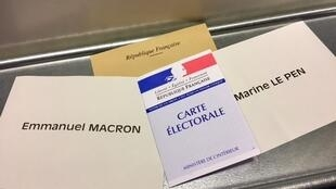 Los franceses votan este domingo en la segunda vuelta.